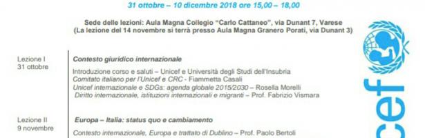 IV Corso Unicef – Integrazione e partecipazione: donne e minori stranieri non accompagnati